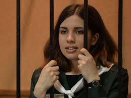 Pussy Riot member Nadezhda Tolokonnikova goes on hunger strike in.