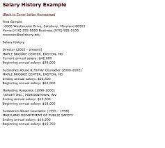 Salary History Examples Http Exampleresumecv Org Salary History