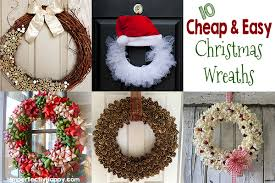 10 Cheap & Easy Christmas Wreaths You Can Make! | by ImperfectlyHappy.com