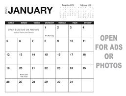 Photoshop Calendar Template 2020 Calendar Templates Printingcenterusa