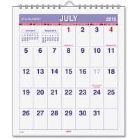 Calendar June July 2015 At A Glance Wirebound Monthly Mini Wall Calendar Aagay528