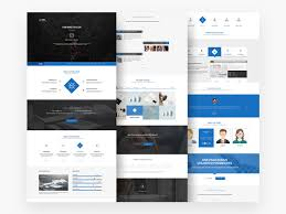 One Page Website Template Mesmerizing Free Download Clean One Page Website Template PSD Designbeep