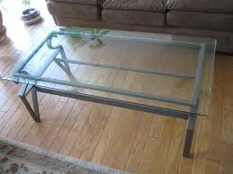 small glass coffee table iron legs