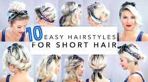 Headband Hair Style 10 easy hairstyles for short hair with headband milabu youtube 4271 by wearticles.com