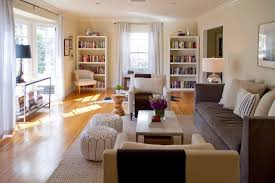 small narrow living rooms long room furniture. Green Street: Long Narrow Living Room With 2 Pouffs Small Rooms Furniture N