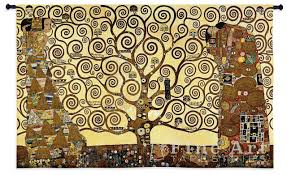 stoclet frieze gustav klimt art tapestry wall hanging painting reion h34 x w53