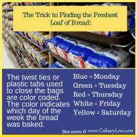 Bread Twist Tie Color Chart Bunny Bread Twist Tie Color Code