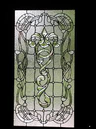 art nouveau front door leaded glass panel with bevels