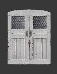 custom swinging saloon doors featuring en wire glass