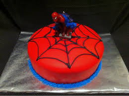 Spider Man Cake Lemon With Cream Cheese Frosting Yelp