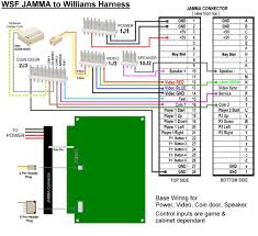 wsf williams multigame original harness to jamma diagrams klov jamma harness color code at Jamma Wiring Harness