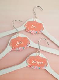free printable and editable bridal party hanger tags in a c fl theme