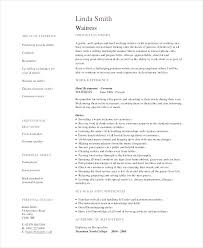 Resume Sample For Waitress Restaurant Resume Sample Restaurant ...