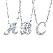 sterling silver cubic zirconia cz initial letter fashion pendant n103 berricle