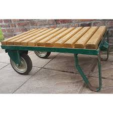 vintage decorative industrial trolley coffee table