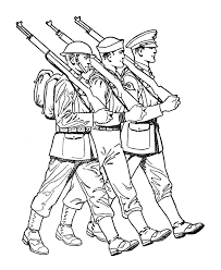 Armed Forces Day Coloring Pages Ww1 Us Marine Sailor Soldier
