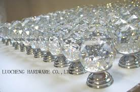 crystal furniture knobs. 40PCS/LOT 30MM CUT CLEAR CRYSTAL CABINET KNOBS ON A CHROME BRASS PLATE Crystal Furniture Knobs