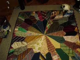 Best 25+ Necktie quilt ideas on Pinterest | Tie quilt, Dresden ... & tie quilt. My mother made one back in 1978 out of silk ties she found Adamdwight.com