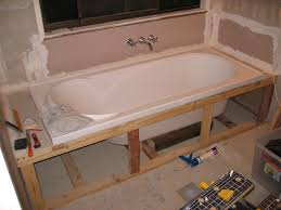 drop in bathtub frame ideas