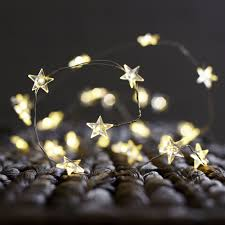 Copper Star Fairy Lights Battery Powered 30 Leds Copper Wire Star String Lights Led