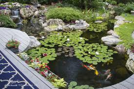 Garden Ponds Designs Beauteous Koi Pond Water Gardens Backyard Ecosystem Ponds By Aquascape