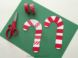 Paper Candy Cane Decorations
