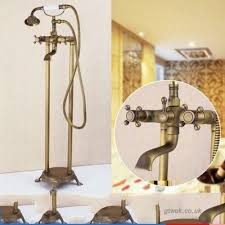 xbr antique bathtub faucet all bronze landing upright upright faucet european style cold and hot shower