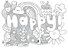 Hard Coloring Pages Free Printable For Kids Adults Only