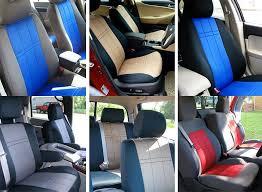 six installed neoprene seat covers gray w blue black w tan black