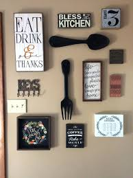 wall decor groupings my kitchen gallery all from hobby lobby and completed  the project decorations . wall decor groupings ...