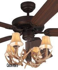 52 lodge 4 light antler ceiling fan
