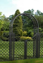 stunning metal garden arches with gate