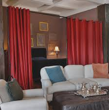 Lovely Red Curtain Room Dividers