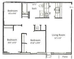 simple floor plans. Basham Rentals 225 S River RD3 Bedroom Floor Plans Simple