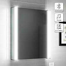 500 x 650 Illuminated LED Bathroom Mirror Cabinet Bluetooth