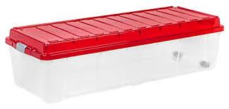 Christmas Tree Storage Box Rubbermaid Interesting Amazon IRIS Tree Storage Box With Compartment Lid Red Home