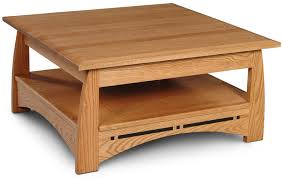 aspen square coffee table with inlay from simply amish furniture intended for shaker style plan 14