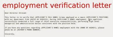 Best Ideas Of Business Letter Employment Verification Sample