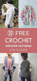 free crochet sweater patterns for women jpg