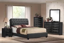 Emily Black Tufted 5 Piece Bedroom Set