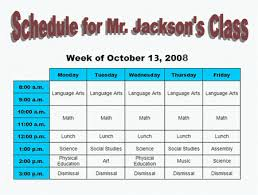 Make A Time Schedule Skills For Success