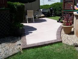 plain concrete patio. Stamped Concrete Patio 11 Plain