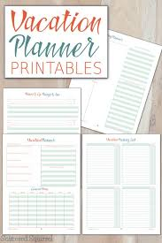 Free Travel Planner Vacation Planner Printables Home Management Binder Vacation