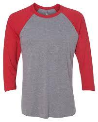 Next Level Raglan Shirt Size Chart Next Level Unisex Tri Blend 3 4 Sleeve Raglan