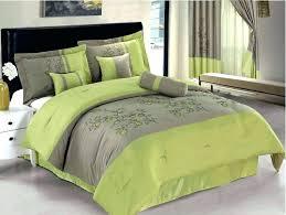 lime green bedding sets 7 embroidered spring flower comforter set bed in a bag queen beige lime green comforters full size of nursery comforter sets