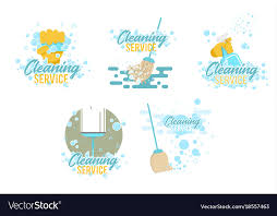 Cleaning Service Templates Cleaning Service Logos And Symbols Templates Vector Image