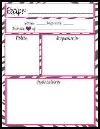 Full Page Recipe Template Free Mesas Place Full Page Recipe Templates Free Printables