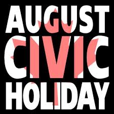 Image result for civic holiday closing pics