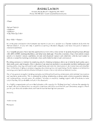 Letter Of Introduction For Teachers It Resume Cover Letter Sample