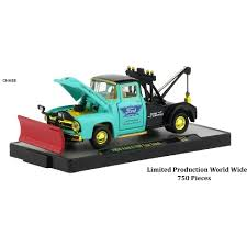 Auto Tow Trucks 6 Piece Set Release 52 IN DISPLAY CASES 1/64 Diecast ...